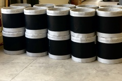 Expansion joints SEIRIS type S26T DN 400 for burners. Working temperature : 530°C